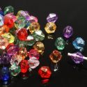 Beads, Imitation Crystal beads, Acrylic, Assorted colours, Faceted Bicones, Diameter 4mm, 2g, 100 Beads, (SLZ0406)